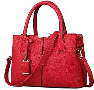 FiveloveTwo Dame Classy Satchel Handtasche Tote Handtasche Griff Tasche Umhängetasche