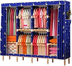Portable Wardrobe Closet Organizer Wardrobe Closet Shelves Quick and Easy to Assemble Clothing Storage Cabinet (Color : A)