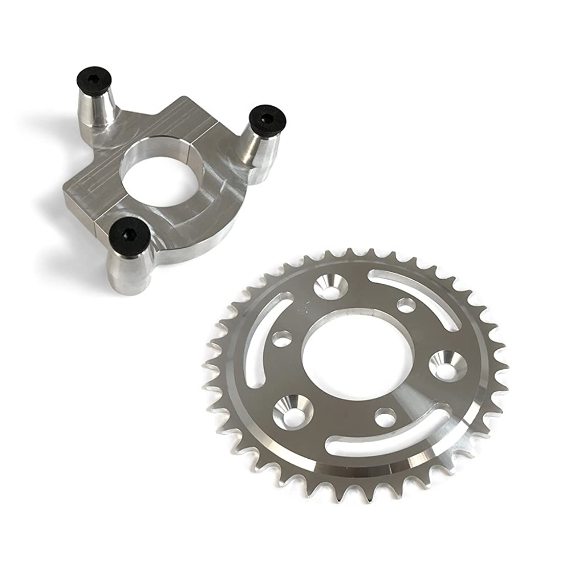 36 Tooth CNC Sprocket With Rear Wheel Hub Adapter