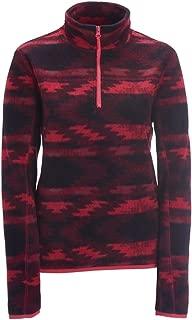 Womens Printed 1/4 Fleece Vest