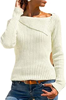 Women Fashion Sweaters Slim Long Sleeve Cable Knit Pullover Jumper