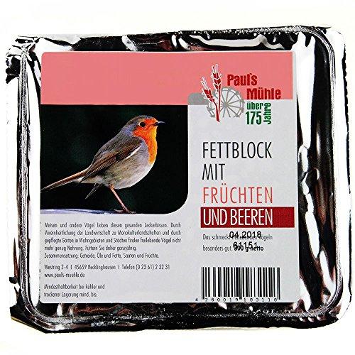Paul´s Mühle Fettblock mit Früchten und Beeren (Vogelbuffet) 12 x 300 g
