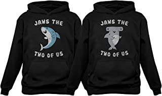 Jaws The Two of Us for Him & Her Matching Couples Hoodies