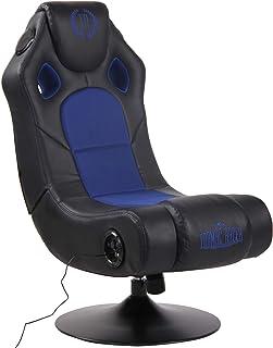 CLP Sillón Gaming Taupo Tapizada En Simil Cuero & En Microfibra I Silla Gamer Giratoria & con Sistema De Sonido & con Entrada USB I Color:, Color:Negro/Azul