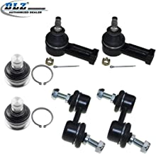 DLZ 6 Pcs Suspension Kit-2 Front Lower Ball Joint 2 Outer Tie Rod End 2 Rear Sway Bar Compatible with 2001-2005 Dodge Stratus Chrysler Sebring 2000-2005 Mitsubishi Eclipse 1999-2003 Mitsubishi Galant