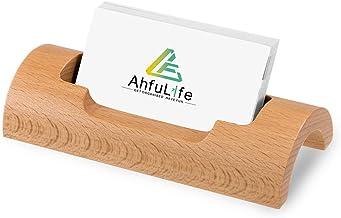 WOWOWO Professioneller Visitenkartenhalter aus Holz Tischkartenhalter.