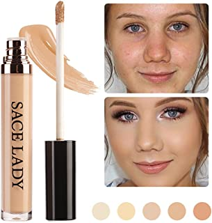 SACE LADY Full Coverage Liquid Concealer, Pro Long Wearing Smooth Concealer for Dark Circles,Blemishes and Spots (01.Light Natural)