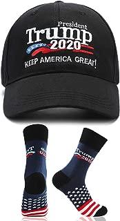 Make America Great Again Hat Donald Trump 2020 USA Cap with 2020 Trump MAGA Socks