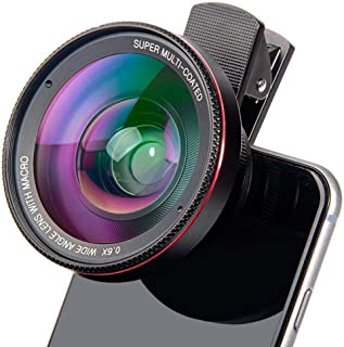 4K Hd Super 15X Macro Lens Compatible Smartphone Anti-Distortion 0.6X Wide Angle Lens Optical Glass Mobile Phone Camera Le...