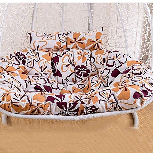 Doppia poltrona pensile in rattan sedia a dondolo cuscino / ispessimento altalena cesto cuscino / appeso uovo cuscino dondolo, estraibile e lavabile,