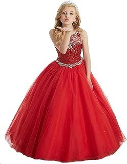 YongGao Teen's Gorgouse Princess Dress A Line Spaghetti Party Pageant Dresses