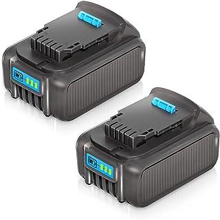 LiBatter 2Pack 20V MAX 6.0Ah Lithium Ion Premium Battery for DEWALT DCB204 DCB205 DCB206..
