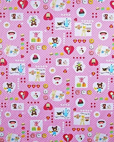 お昼寝布団カバー 95×160 cm 95 160 サイズオーダー 保育園 綿 ファスナー 柄番200ピンク