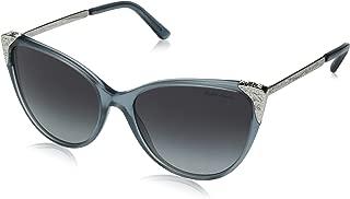 Women's RL8172 Cat Eye Sunglasses, Denim Blue Vintage/Light Grey Gradient Black, 57 mm