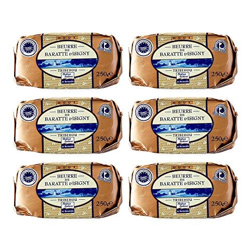 イズニーA.O.P. 無塩発酵バター【250g】 Tribehou BEURRE d'ISIGNY DOUX / バターコーヒーにオススメ! (6個)