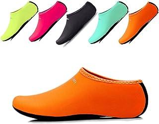 JIASUQI Kids,Womens Mens Classic Barefoot Water Sports Skin Shoes Aqua Socks Beach Swim Surf Yoga Exercise