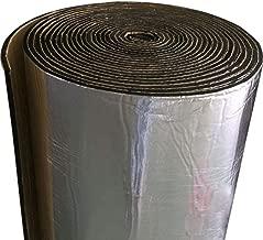TEEPAO Alfombrilla insonorizante, tela de fibra de vidrio para auto, aislamiento de ruido y calor, rollo de espuma para motor/techo/ventana, paneles de espuma de aislamiento acústico automotriz de 5 mm, a prueba de humedad, ignífugo