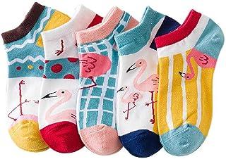 ZHANGNUO, Calcetines para Niñas Calcetines De Algodón para Mujer Calcetines Bonitos Calcetines Bordados con Patrón De Barco