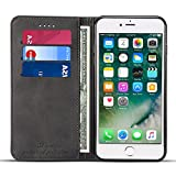 FLY HAWK Wallet Case Compatible 2018 iPhone Xs / 2017 iPhone X, Premium PU Leather Wallet Case Flip Folio [Kickstand Feature] with ID&Credit Card Pockets for iPhone XS/10S/X/10 5.8 inch Black