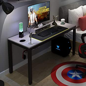 """Need Gaming Desk All-in-one Gaming Computer Desk with RGB LED Soft Gaming Mouse Pad 60"""" Length for Big Guys AC14LB-Pro"""