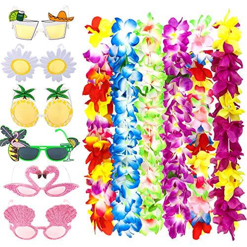 Whalin Sonnenbrille für den Strand und Hawaii-Leis, 12 Stück