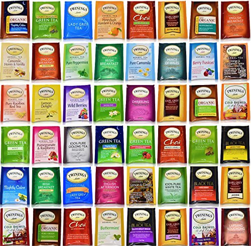 Twinings Tea Bags Sampler Assortment Variety Pack Gift Box - 48 Count - Perfect Variety - English Breakfast, Green, Black, Herbal, Chai Tea and more …