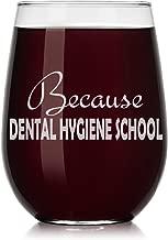 Wine Glass Funny Because Dental Hygiene School Student Hygienist (Stemless, 17oz)