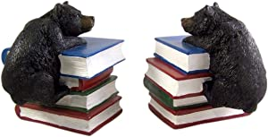Decorative Climbing Black Bear Cast Resin Bookends, 6 1/4 Inch