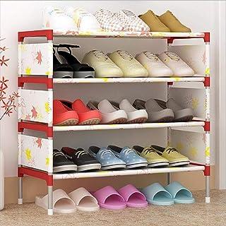 Cabinet de chaussures anti-poussière Le magasin de cintre 5 étagère de rangement Petit porte-chaussures Arrossement Organi...