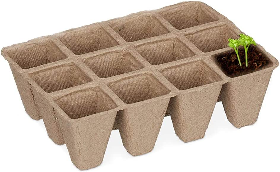 ! Super beauty product restock quality top! Peat Chicago Mall Pots Seed Starter Pulp 12-Hole Seedl Tray