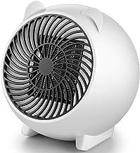 Dengc Calentador de Ventilador eléctrico Mini Ventilador de Aire Caliente de cerámica Personal portátil Calentador de Mano de Invierno Estufa de calefacción de Escritorio Radiador-Blanco