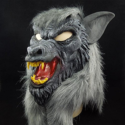 Find Discount Halloween Scary devil masquerade ball mask Wolf head caps