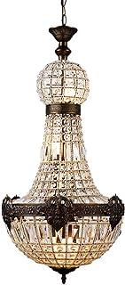 Newrays Retro Vintage Charming Royal Empire Style Big Led Crystal Modern Chandelier Lamp Lustres Lights E14 for Hotel Chur...