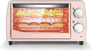 Horno DoméStico PequeñO 10L 800W,Mini Horno EléCtrico Multifuncional Para Pasteles Y Pan,Vidrio Templado Resistente A Altas Temperaturas,Temporizador 60 Minutos,Control Temperatura 70-250 ℃,Pink