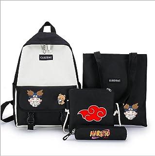 Naruto school bag set Backpacks, Waterproof Cute Backpack for Kids Toddler Girl Preschool Bookbags Elementary School Bags