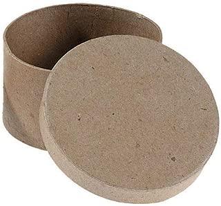 Darice Bulk Buy DIY Paper Mache Box Round 4 x 4 x 2 inch (6-Pack) 2833-33
