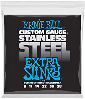 Ernie Ball Stainless Steel Extra Slinky Set, .008 - .038