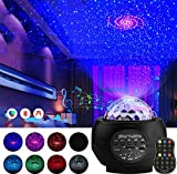 Star Light Projector Galaxy,3 in 1 LED Galaxy Starry Light Projector for Bedroom, Ocean Wave Projector Light Decorative Galaxy Light Sky Star Lite with Sound Activated for Kids, Adults, Holidays