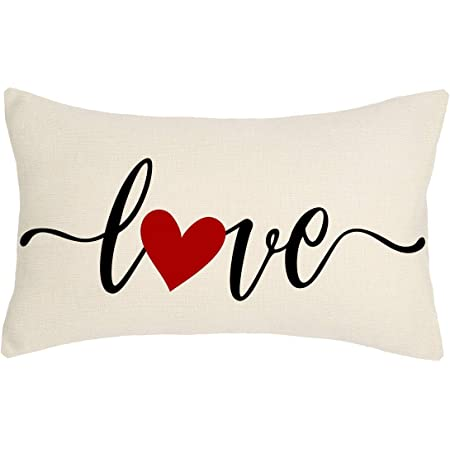 Romantic Gift for Her Valentine/'s Day Pillow Cases 18x18 Valentine Decor for Corners Couches Love Collection Throw Pillow Covers