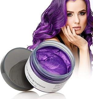 MOFAJANG Natural Hair Wax Color Styling Cream Mud, Adofect Natural Hairstyle Dye Pomade, Temporary Hairstyle Cream 4.23 o...