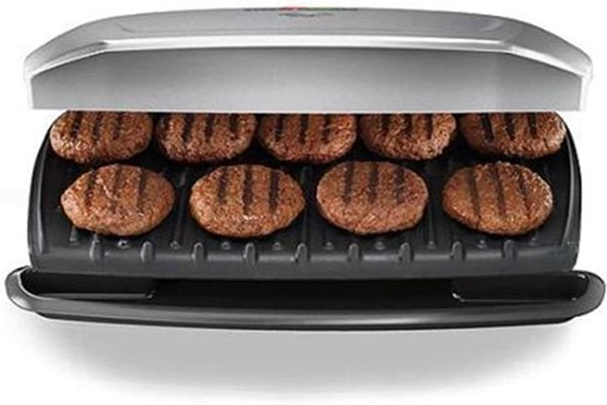 George Foreman 144 Sq In 9 Serving Classic Plate Grill Silver GR2144P