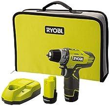 Ryobi .R12DD-LL13S drill Sin llave Negro, Amarillo - Taladro eléctrico (2,5 cm, 30 Nm, 400 RPM, 1500 RPM, Batería, Ión de litio)