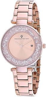 Christian Van Sant Women's Dazzle Quartz Stainless Steel Strap, Rose Gold, 16 Casual Watch (Model: CV1214)
