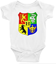 Harry Potter Hogwarts Crest Short Sleeve Unisex Onesie (3-6)