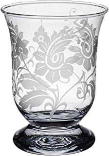 Villeroy & Boch Helium Lamp with Floral Ornament, 15.5 cm, Glass, Transparent