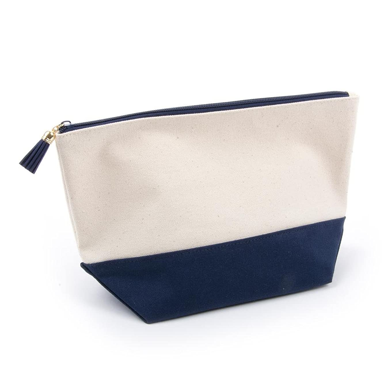 Mainstreet Collection Canvas Cosmetic Bag (Navy)