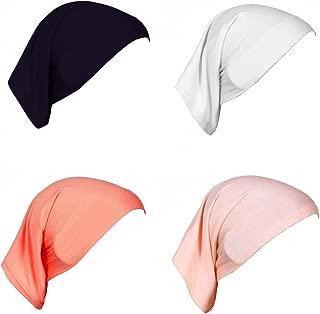 4 X Womens Muslim Mini Inner Hijab Caps