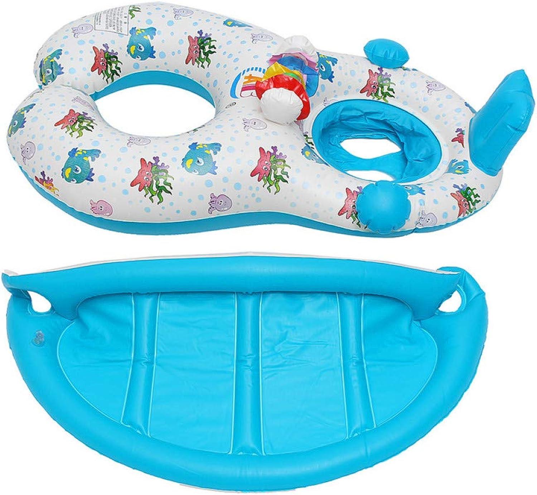 YRQSWA Schwimmende Reihe Aufblasbarer Baby-Pool-Schwimmring mit Mutter-Kinderschwimmkreis-aufblasbarem Sicherheits-Schwimmring-Schwimmsitz
