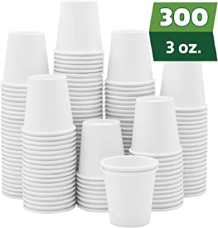 [300 Pack] 3 oz. White Paper Cups, Small Disposable Bathroom, Espresso, Mouthwash Cups