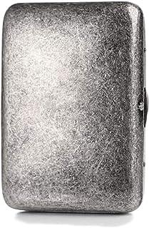 LONGWDS Caja de cigarro Caso de Cigarrillos, 16 Palos de Cobre Puro de Plata Antiguo Retro del Metal de la Personalidad Cr...